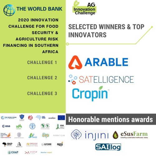 Final Results of 2020 Innovation Challenge for Food Security & Agriculture Risk Financing in Southern Africa